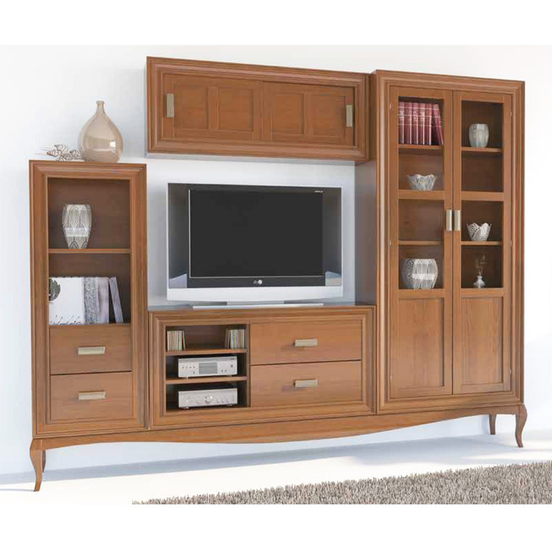Muebles madera para tv 20170829153126 for Muebles auxiliares para television
