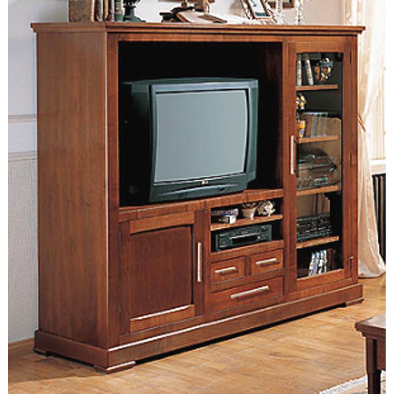 Mueble televisi n madera cerezo - Muebles de madera en crudo ...