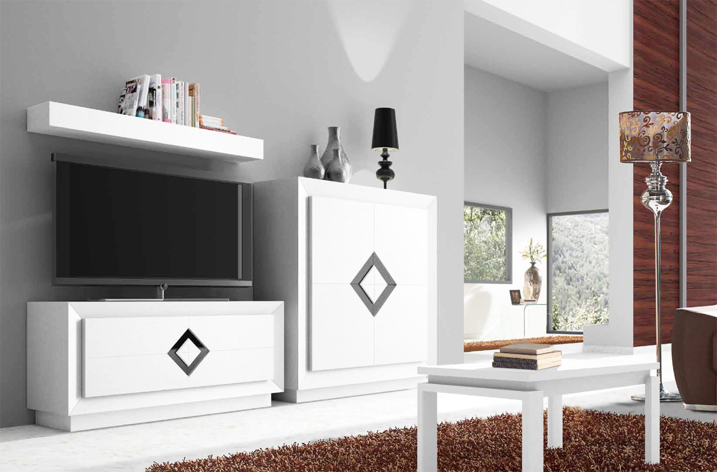 Muebles para sal n moderno con mueble televisi n y for Hacer mueble salon moderno